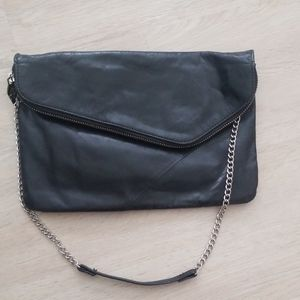 Hobo black leather handbag